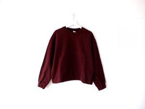 & other stories Sweat Shirt bordeaux cotton
