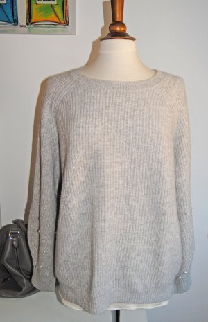 Allude Pull en cashemire gris clair