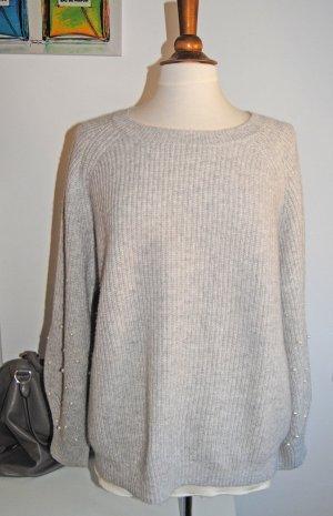 Wie NEU: Oversized Cashmere Wolle Pulli mit Perlen von ALLUDE S