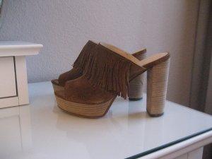 Kennel + schmenger Platform High-Heeled Sandal cognac-coloured leather