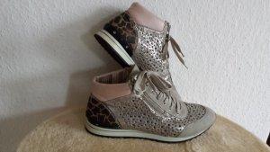 Wie  Neu Rieker Schnürboots Sneaker Boots Turnschuh Schuhe Grau Leo Rose gr 39