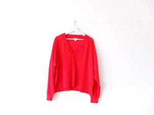 wie neu roter H&M Pullover Gr. XL 40 42 V-Ausschnitt