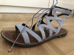 wie neu! Sam Edelman ~ Luxus Leder Sandale Gemma eisblau ~ Sandalette hellblau ☆ ☀ ♥ DIE BESTEN SCHNÄPPCHEN - JETZT MEGA REDUZIERT ☆ ☀ ♥