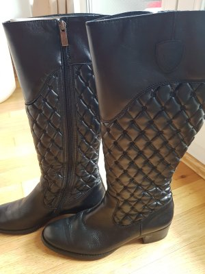 Paul Green Riding Boots black leather