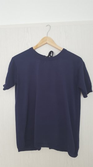 Wie neu! Shirt Bluse von Prada in navy Gr. XXS IT 38