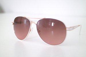 Wie neu! Steve Madden Sonnenbrille roségold weiß