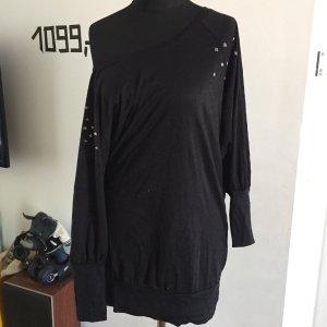 Wie neu: Sweatshirt aus Ausbrenner-Jersey mit Nieten