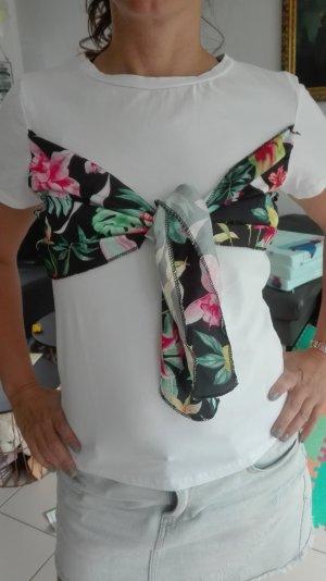 wie neu: tolles aussergewöhnliches shirt blumenmuster