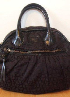 Tommy Hilfiger Carry Bag black brown cotton