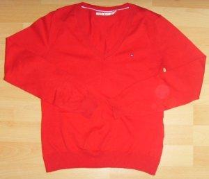 *wie NEU* Tommy Hilfiger Pullover V-Ausschnitt Rot Strick boho edel S 36