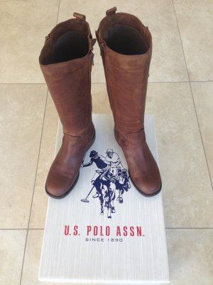 Wie NEU!!! U.S. Polo Assn. Stiefel braun