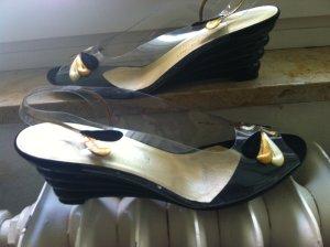 High-Heeled Sandals white-black