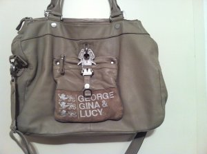 George Gina & Lucy Bolso gris claro Cuero