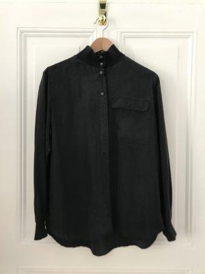 Closed Silk Blouse black silk