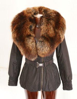 wie neu!! XS ● MILESTONE ● Luxus Jacke mit XXL Pelz ● Steppjacke Winterjacke