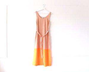 wie neu Zalando maxi kleid Gr. M 38 36 nude neon orange xxl