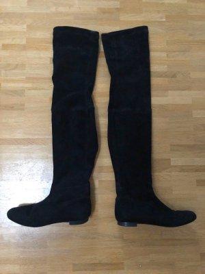 Zara Botte haute noir daim
