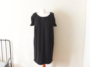wie neue Steffen Schraut luxus Kleid Gr. 40 schwarz a-linie plisee cocktail
