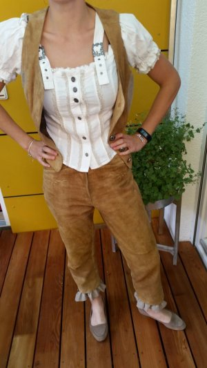 Traditional Leather Trousers light brown leather