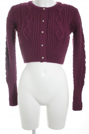 Wiesenkönig Coarse Knitted Jacket purple-silver-colored fluffy