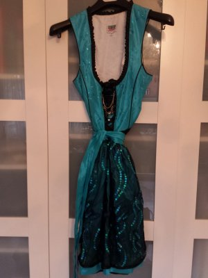 Country Line Dirndl noir-turquoise
