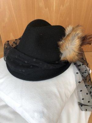 Wiesn / Filz Hut Schwarz Größe 57