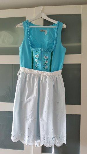 Wiesn Special: Selten getragenes Midi-Dirndl türkis, Größe 40