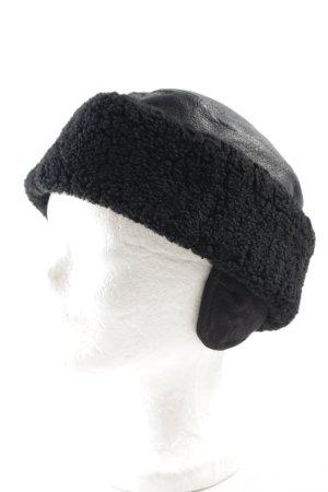 Wigens Fabric Hat black material mix look