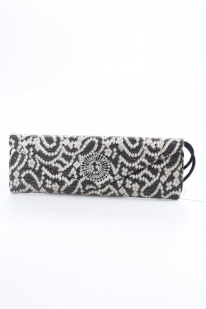 wilbur & gussie Clutch schwarz-goldfarben abstraktes Muster Animal-Look