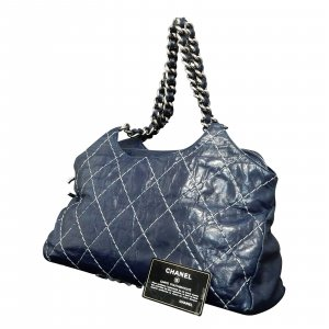 Chanel Sac à main bleu cuir