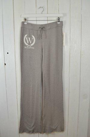 WILDFOX Damen Jogginghose Mod.Shopping Sweats Vintage Look Grau-Braun Weiß Gr.XS
