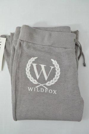 WILDFOX Damen Jogginghose Mod.Shopping Sweats Vintage Look Grau-Braun Weiß Neu L