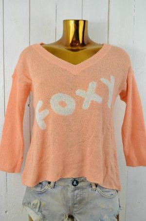 WILDFOX Damen Pullover Strick Mod.Foxy col.Coralshell Apricot Weiß Gr.M Neu!