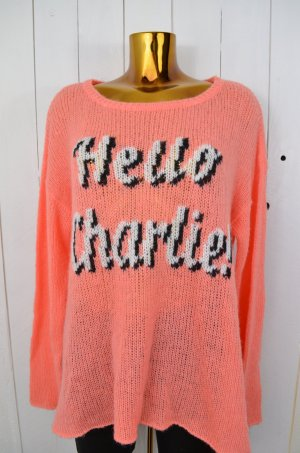 WILDFOX Damen Pullover Strick Mod. YOU RANG - HELLO CHARLIE Koralle Weiss XS
