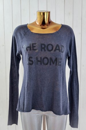 WILDFOX Damen Pullover THE ROAD IS HOME Sweatshirt Baumwollgemisch Anthrazit S