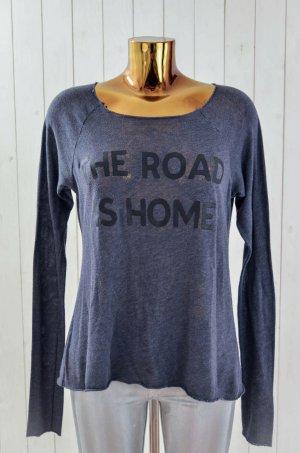 WILDFOX Damen Pullover THE ROAD IS HOME Sweatshirt Baumwollgemisch Anthrazit S