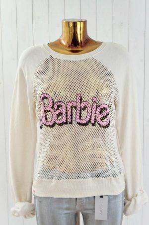 WILDFOX Damen Sweatshirt Mod. Barbie Sweater Vintage Lace Ecru Rosa Schwarz Gr.L