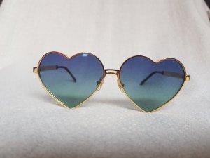 Wildfox Gold Herzförmige Sonnenbrille