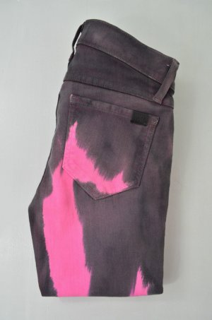 WILDFOX Jeans Skinny Mod. The Carmen col.Folishlove Grau Pink Batik Gr.25