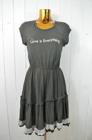 WILDFOX Kleid Jerseykleid LOVE IS EVERYTHING Charcoal Grau Baumwolle Jersey S