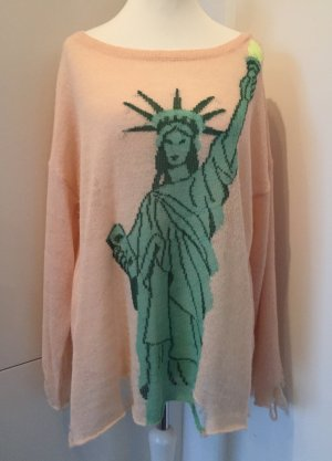 "WILDFOX - Lockerer Damen-Pullover ""Mod. Statue of Liberty"" in Baby Apricot / Gr. M"
