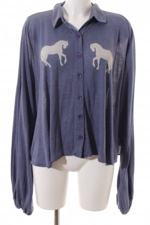 Wildfox Oversized Shirt himmelblau Motivdruck Street-Fashion-Look