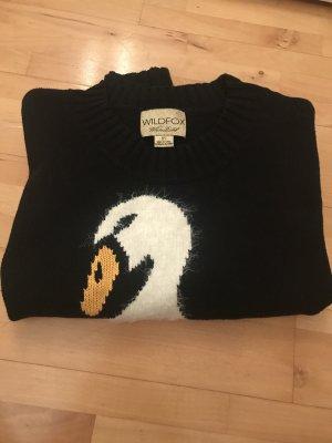 Wildfox Pullover a maglia grossa nero-bianco