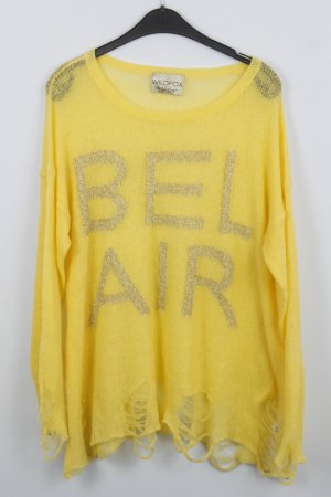 WILDFOX Pullover Gr. M gelb Bel Air (18/9/403/R)