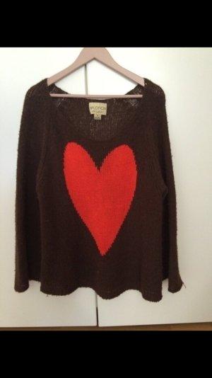 Wildfox Pullover mit rotem Herz
