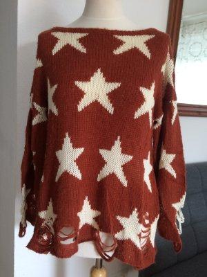 WILDFOX Pullover rot / beige Größe S
