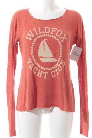 Wildfox Kraagloze sweater donker oranje-licht beige casual uitstraling