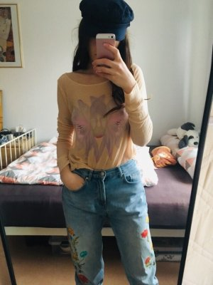 Wildfox Shirt in creme rosé Gr S