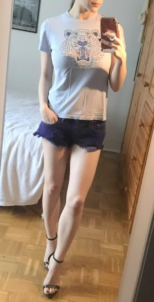 Wildfox Shorts Hotpants Gr. 36 S 27 jeans Jeansshorts sommer lila violett