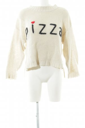 Wildfox Strickpullover creme Casual-Look